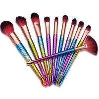 Brand New Hot Selling 10Pcs Professional Makeup Cosmetic Brushes Set Powder Foundation Eyeshadow Lip Brush Wholesale