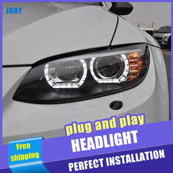 2PCS Car Style LED headlights for BMW M3 e92 e93 2008-2013 for M3 head lamp LED DRL Lens Double Beam H7 HID Xenon bi xenon lens - DISCOUNT ITEM  21 OFF Automobiles & Motorcycles