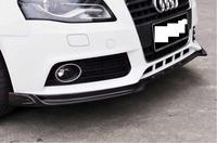 JINGHANG Car Carbon Fiber Front Bumper Lip Spoiler, Auto Car Diffuser Fits For AUDI A4 B8 2009 2010 2011 2012