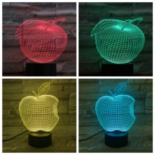 Apple Table 3D Lamp USB Touch Sensor RBG Novelty Lighting Child Kids Baby Gift Gadget Fruit Led Night Light Decor Dropshipping