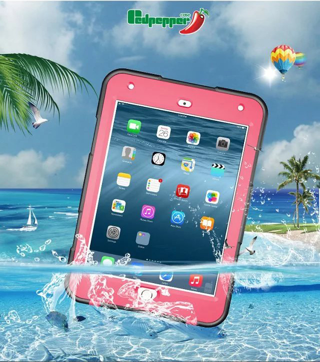 Redpepper IP68 Extreme Waterproof Shockproof Military Bumper Heavy Duty Cover Shell Case Skin Protector for iPad Mini 4 hot sale 3d car parking lot diy model assembly toy racing rail train track model toy railway transportation building slot sets