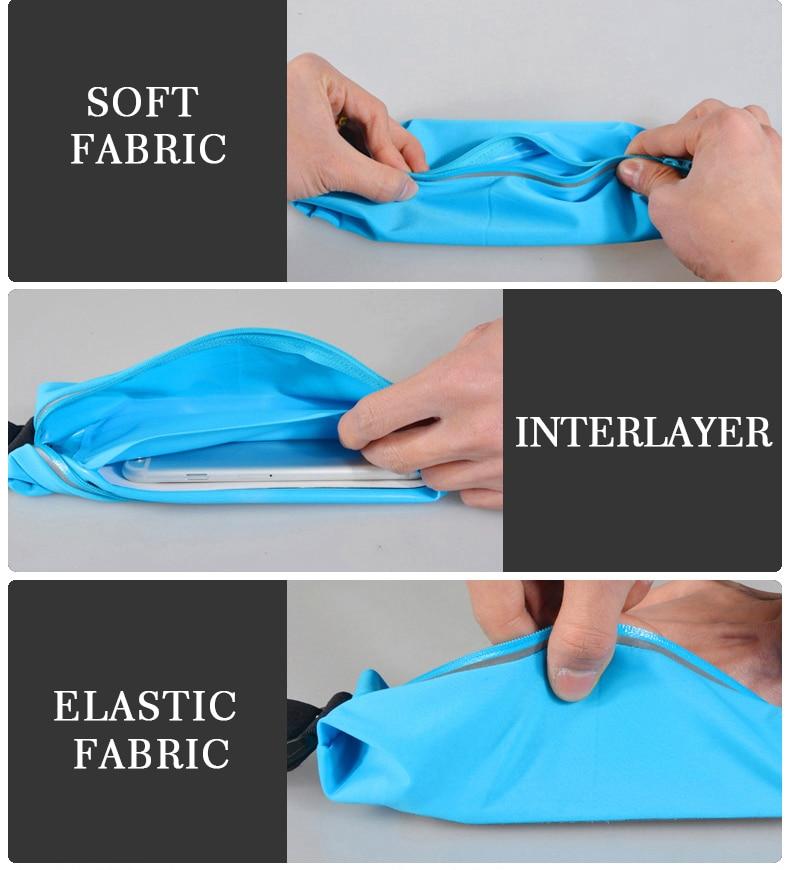 ROCKBROS Waterproof Running Bag Waist Bag Sport Belt Bags 5.8-6 Inch Phone Pouch Case Bags For IPhone 6 7 Plus Sport Accessories 11