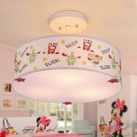 Boys Girls Bedroom Droplight Lovely Cartoon Robot Monster Eye Protection Cloth Kids Pendant Light