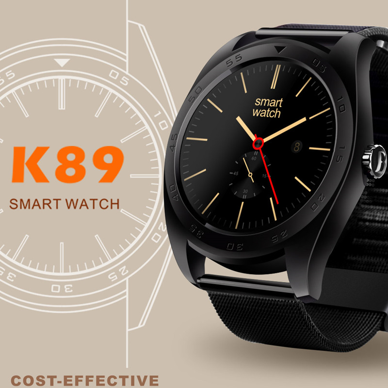 2017 Newest bluetooth k89 smart watch health sport electronics smartwatch for Iphone Android wearable devices support heart rate