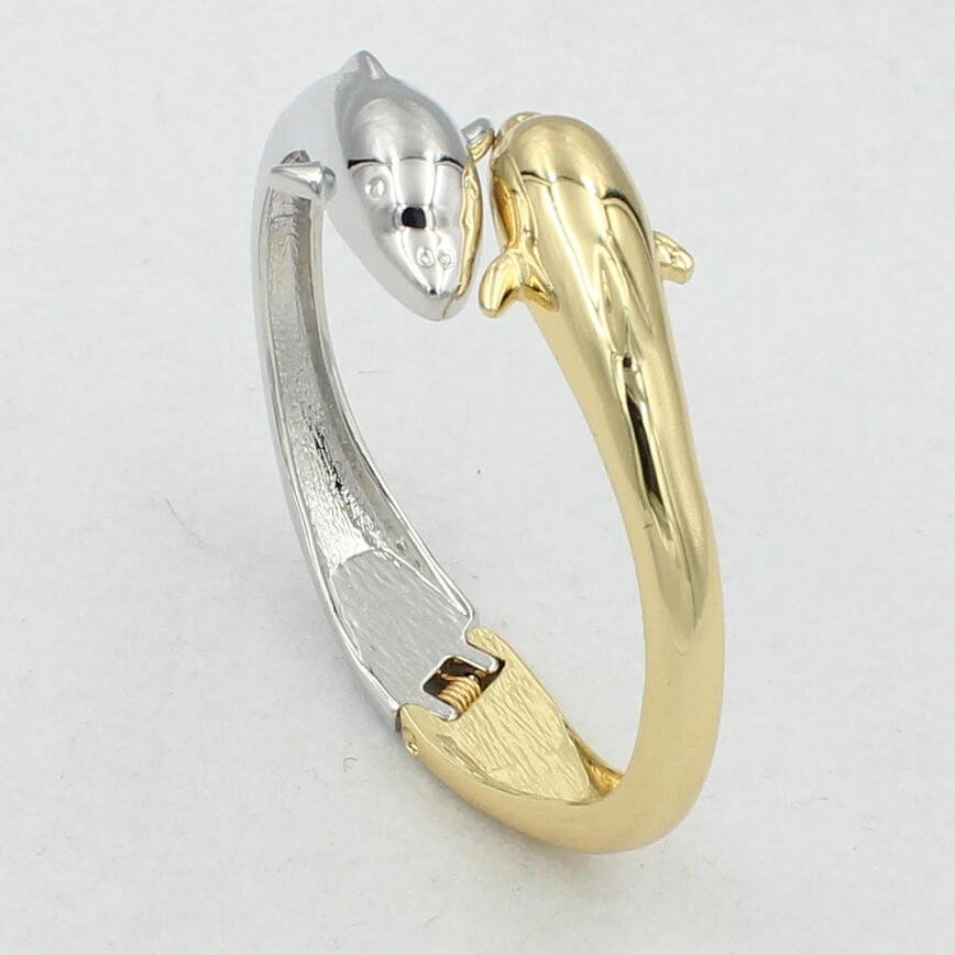 good quality gold silver color couple elephant bangles for women girls gift copper material fj137