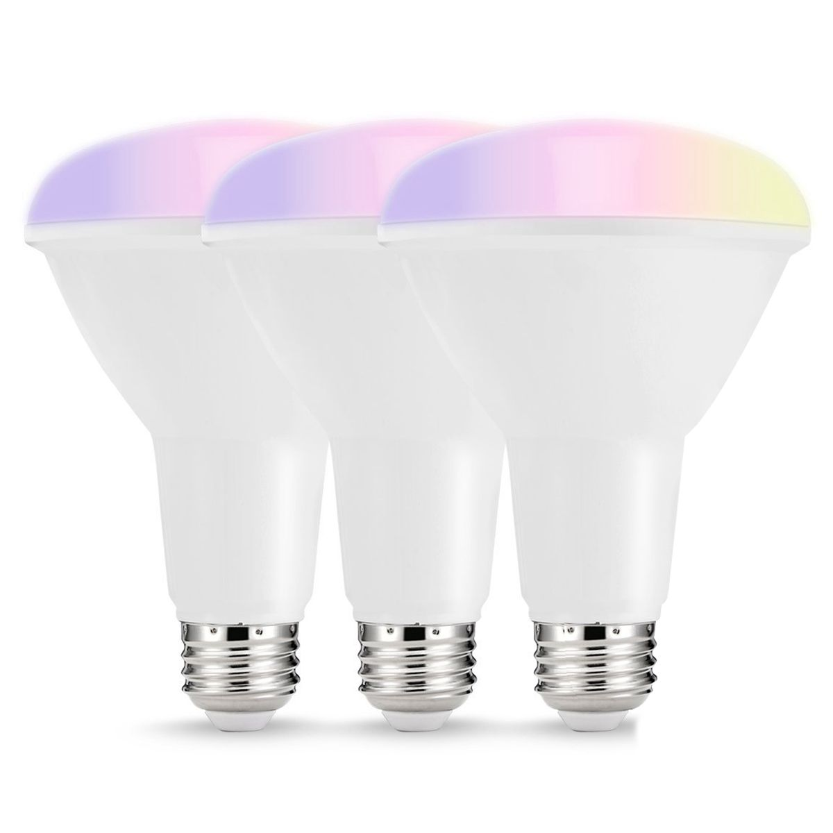 Smart LED Bulbs,Multicolored WIFI LED Lights, BR30 Dimmable Recessed Light Bulbs, 75W 80W Equivalent Flood Light, Compatible wit
