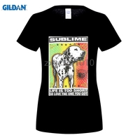 GILDAN Real Top Fashion Broadcloth Cotton Print Tee4u Crazy T Shirts Sublime Lou Dog O Neck