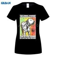 GILDAN Real Top Fashion Broadcloth Cotton Print Tee4u Crazy T Shirts Sublime Lou Dog O Neck