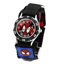 Очень популярный Лидер продаж Модная стильная футболка с изображением персонажей видеоигр Человек-паук нейлоновый ремешок Рождество подарки на день рождения для мальчиков наручные часы Relogio