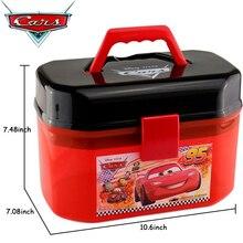 Disney Pixar Cars Giocattoli Modello di Auto di Parcheggio Lotto Portatile McQueen Scatola di Immagazzinaggio (Senza Auto) per I Ragazzi Bambini Regalo Di Compleanno