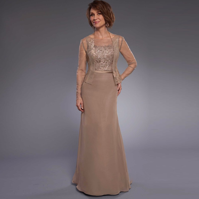 Brown-Chiffon-Mother-Dresses-Formal-Wedding-Guest-Dresses-with-Jacket-Appliques-Lace-Mermaid-Mother-of-the