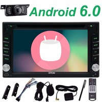 free camera+Android 6.0 2 din car dvd gps radio Audio Autoradio Stereo APP USB Receiver 1080P BT GPS Radio RDS SD Auto Car DVD