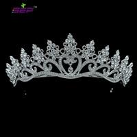 Real Austrian Crystal Rhinestone Wedding Bridal Royal Tiara Crown Women Hair Accessories SHA8571
