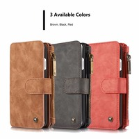 CaseMe 2 In 1 Luxury Leather Magnetic Wallet Case For IPhone 5s SE 6s Plus 7
