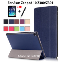 "Para ASUS Zenpad 10 Z301MLF Z301ML Z301 10.1 ""Caso elegante de la Cubierta Funda Soporte de la Tableta De Asus Zenpad 10 Z300CL Z300C Z300m + Film + Pluma"