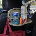 Cinza/bege cor Multi-função Veículo Estiva Tidying car assento Bebida mesa dobrável quadro frete grátis