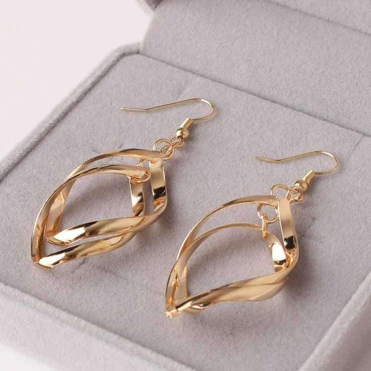 أعلى درجة مجوهرات هوليوود نجمة تشانغ تسى يى تألق جدا بالكهرباء إسقاط أقراط للنساء مجوهرات