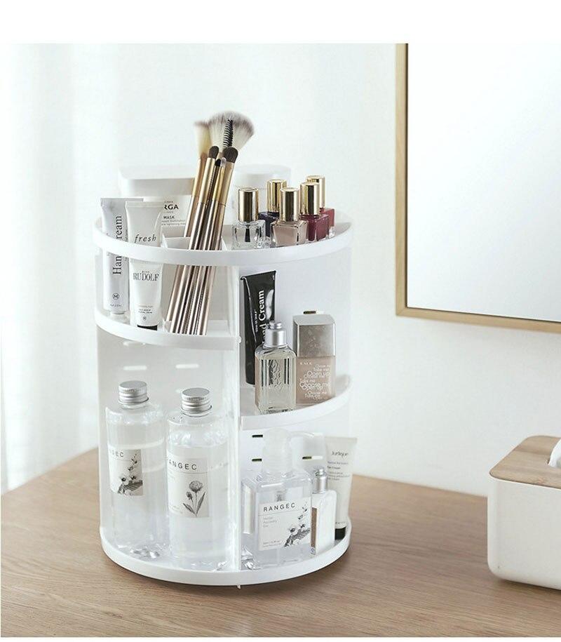 73373efb4881 Fashion 360-degree Rotating Makeup Organizer Box Brush Holder Jewelry  Organizer Case Jewelry Makeup Cosmetic Storage Box