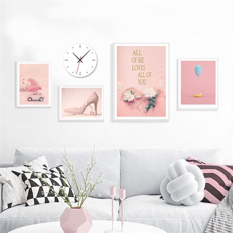 Nordic Canvas Painting Home Decor Modern Fashion Flower Poster Wall Art Print Girls Bedroom Minimalist