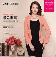 Autumn fashion brand metal buttons short balzer slim and elegant female beautiful short jacket with lining wj2823 dropship