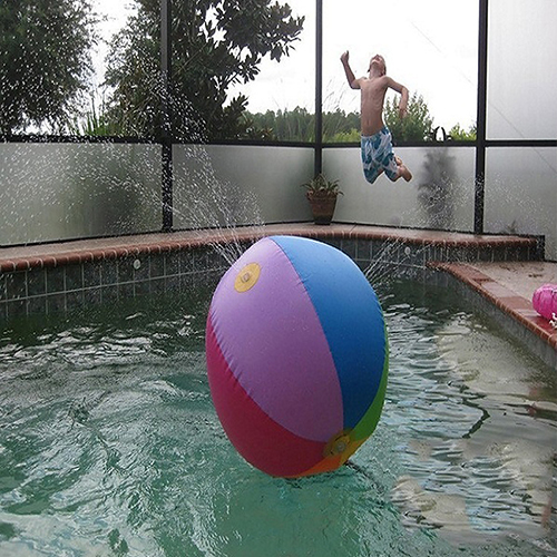 Childrens-Outdoor-Lawn-Swimming-Beach-Inflatable-Water-Fountain-Ball-3
