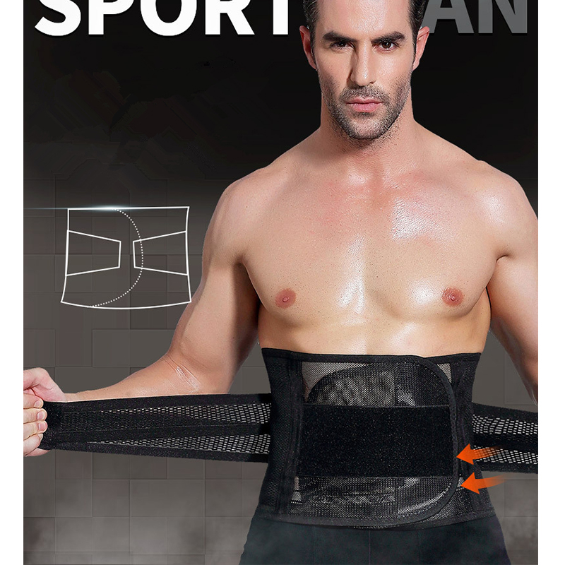 Fitness Sports Exercise Waist Support Pressure Protector Belly Shaper Corset Adjustable Belt Training Waistband For Men ...