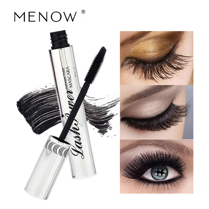 717271adafc Menow Black Mascara Cream Eye Makeup Cosmetics Curling Thick Quick Dry  Mascara Extend Eyelashes Waterproof Make