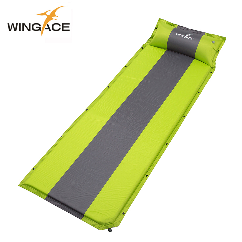 WINGACE Camping Mat 195*66*3CM Inflatable Mattress Sleeping Pad Portable Ultralight Outdoor Tent Mat Inflatable Bed Air Mattress