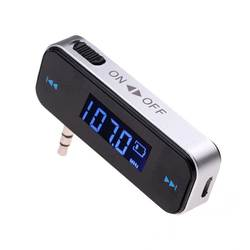 3.5mm Music Audio FM Transmitter Mini Wireless In-car Transmitter car mp3 Transmitter  For iPhone 4 5 6 6S Plus Samsung iPad