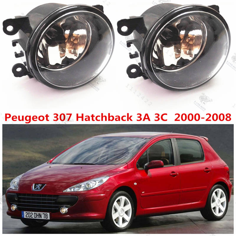 For PEUGEOT 307 (3A/C) 2000+2015 Front bumper light Original Fog Lights lamp Halogen car styling .1SET.OEM620639-620662-6206E1