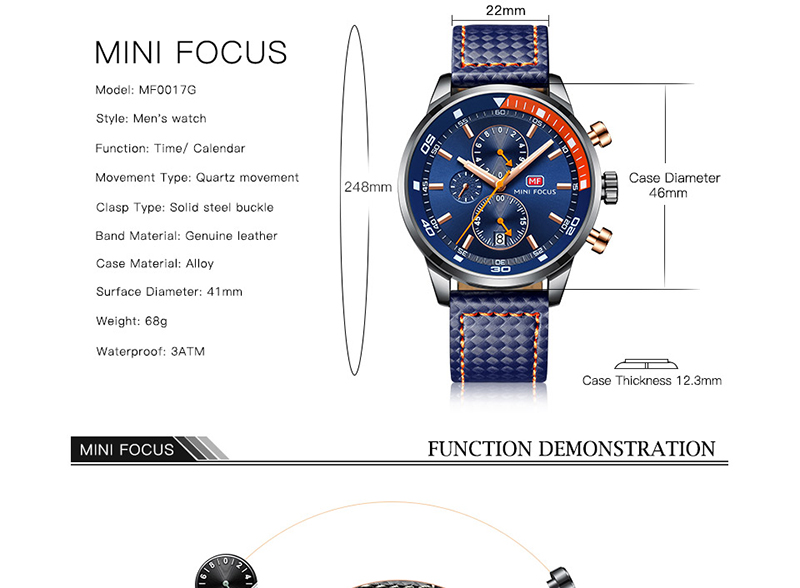 Watches Men 2019 Luxury Brand MINI FOCUS Quartz Fashion Leather Watch Man Chronograph Male Wristwatch Men relogio masculino 2018 (3)