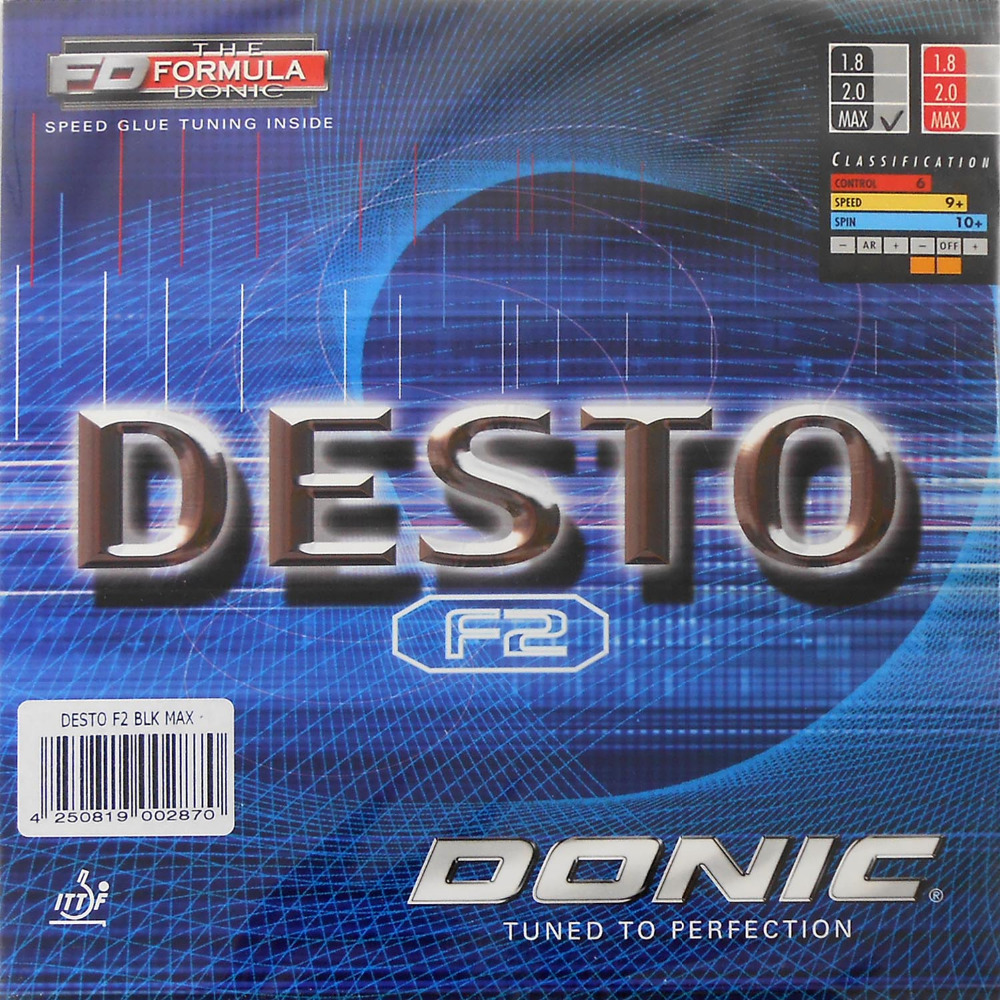 2Pieces Donic DESTO F2 F-2  F 2 Pimples In Table Tennis (Ping Pong) Rubber With Sponge 2015 The new listing donic desto f3 f 3 f 3 pips in table tennis pingpong rubber with sponge