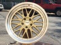 4 New 18x8 0Rims Wheels ET 35mm CB 66 6mm 882 Series Alloy Wheel RimsGold Face