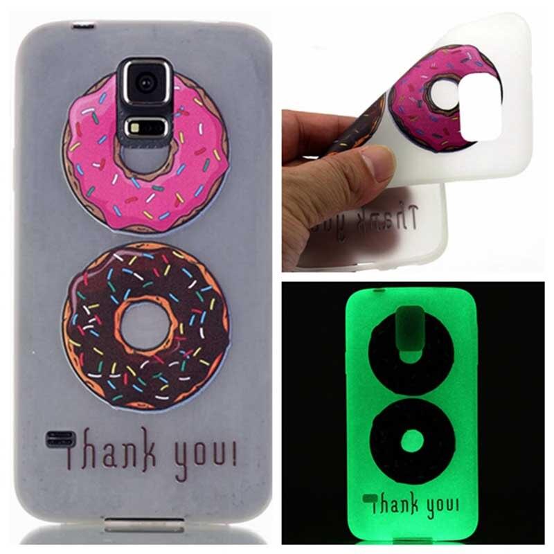 Corazón de la manera piano cajas del teléfono para samsung galaxy s5 i9600 Luminous Glow In Dark Silicio Teléfono Cubierta de Shell Volver Piel accesorio
