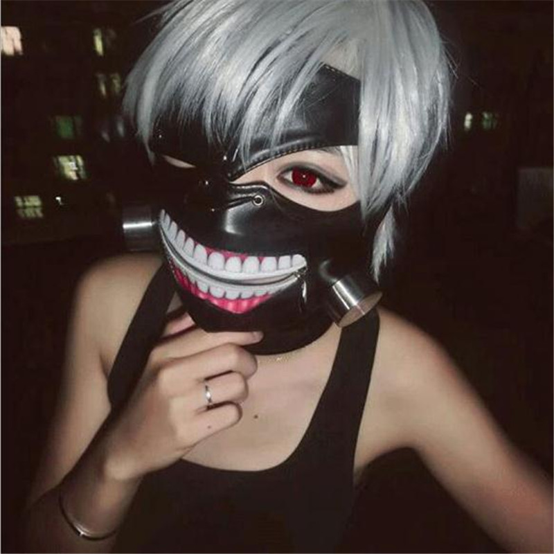 Tokyo Ghoul Ken Kaneki Mask Cosplay Costume Prop With Adjustable Zipper Anime  Christmas Party Halloween Costume For Men Adult