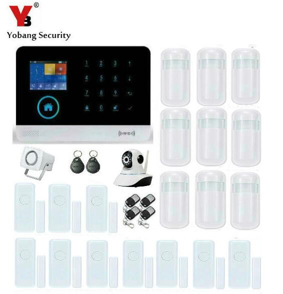 YobangSecurity Wireless WIFI GSM GPRS Home Security System Alarm IP Camera Wireless Siren Smoke Fire Detector iOS Android App yobangsecurity wifi gsm gprs home security alarm system android ios app control door window pir sensor wireless smoke detector