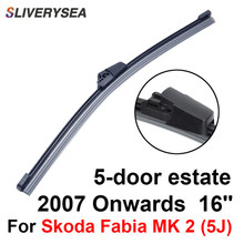 SLIVERYSEA Rear Wiper Blade No Arm For Skoda Fabia MK 2 (5J) 2007 Onwards 16 5 door estate High Quality Iso9001 Natural Rubber