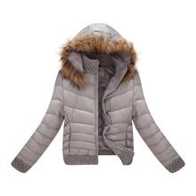 2016 Winter Jacket Women Slim Fashion Solid Short Winter Jacket