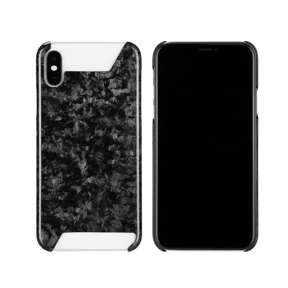 Forgé Carbone fibre étui pour iphone X XS XR XS MAX revêtement arrière De Luxe Rétro D'origine Glitter-Carbone fibre Motif à l'intérieur Du cas