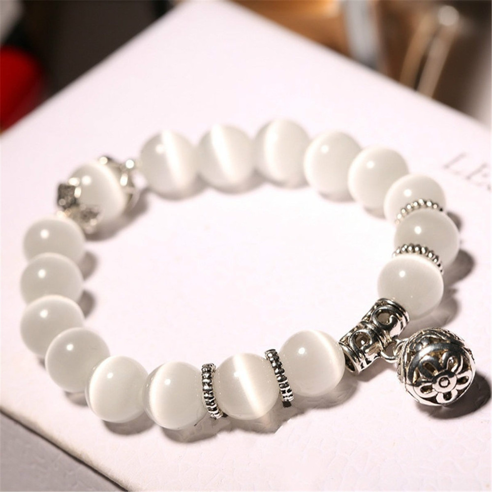 Natural opal beads bracelets crystal fashion women