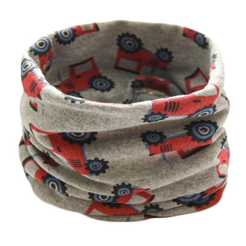 Warm Scarf Winter Boys Kids Children Collar O-Ring Magic-Neckerchief Girls Autumn Cotton