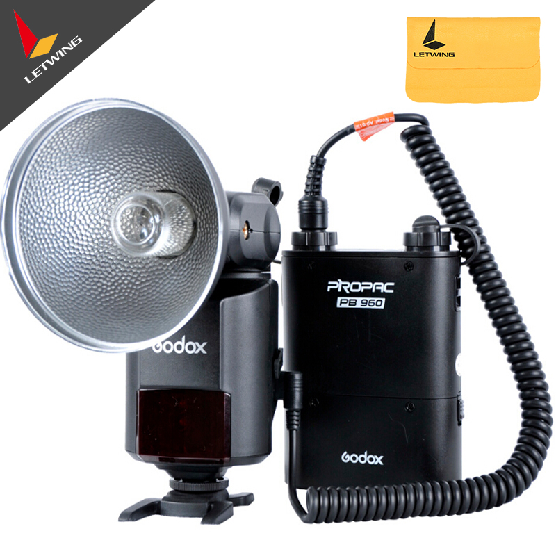 Godox Witstro AD360 AD-360 Powerful Portable Speedlite Pro outdoor Flash Light + PB960 Power Battery Pack Kit Black Studio flash godox witstro ad360 ad360k ad 360 outdoor camera flash light bare tube flash speedlite pb960 lithium battery power pack black