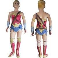 Kids Girls Wonder Woman Superhero Film Princess Diana Cosplay Halloween Costume Skirt DC Comics Justice League