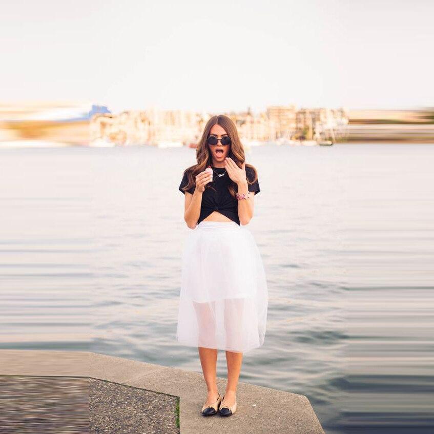 Прозрачные юбки с подкладкой