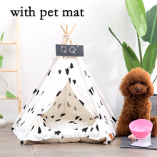 JORMEL Pet Tent Dog Cat Toy House Puppy Teepee Portable Washable Pet Bed Pine Pattern Contain Pet Mat 2019 New