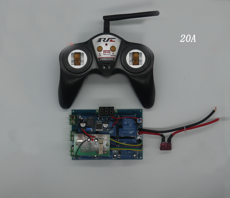 1set RC Tug Bait Boat 10A 15A 20A Remote Controller+Receiver Board High Power 12V-24V Transmitter 300 Meters Radio System