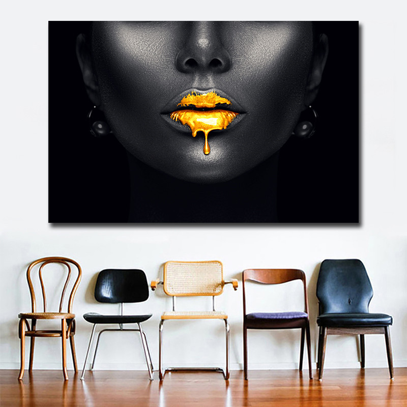 Sexy Lips Canvas Wall Art Pictures Cheap Dropshipping ...