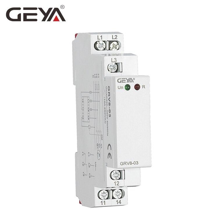 frete gratis geya grv8 03 trifasico rele de protecao da sequencia de fase rele de monitorizacao