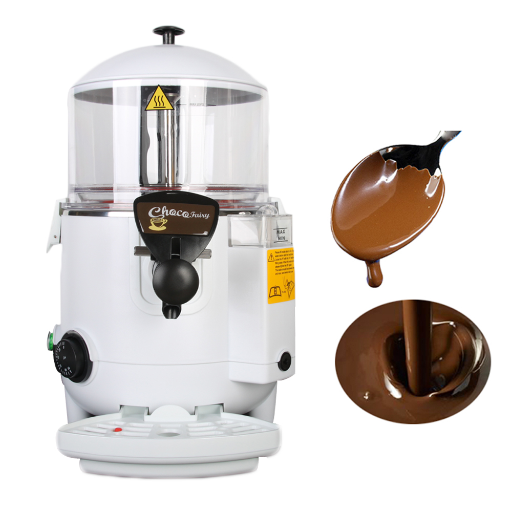 Automatic Hot Chocolate Machine 5L Hot Chocolate Dispenser Commercial Machine Food Processor xeoleo fructose machine 8 5l 16 grid quantitative machine automatic fructose dispenser syrup dispenser fruit sugar machine