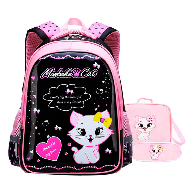 Waterproof children school bags girls Schoolbag Primary cartoon school  backpack kids Orthopedic school backpack set kids 18c5ffc752fa4